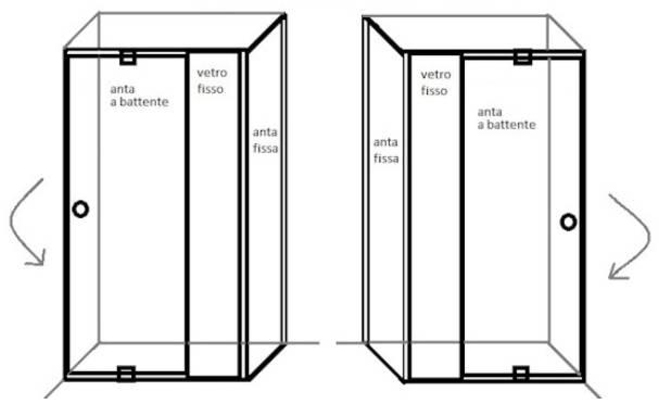 Box doccia cristallo 6 mm porta a battente - Montaggio porta battente ...