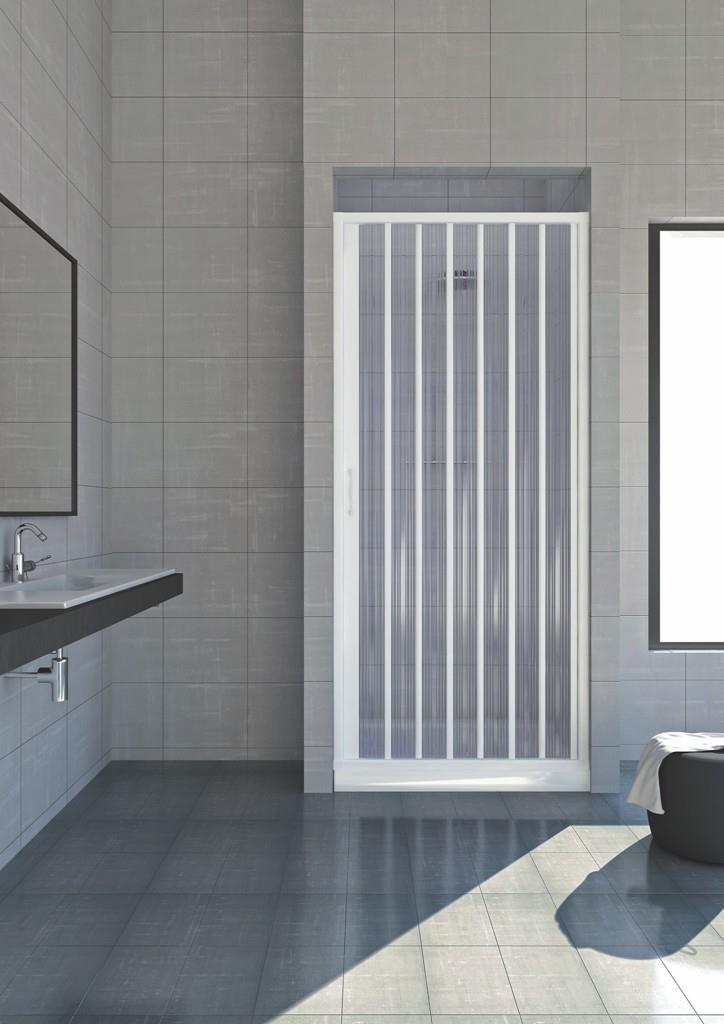 duschkabine in pvc kunststoff faltwand f r nische duschtrennwand duschabtrennung ebay. Black Bedroom Furniture Sets. Home Design Ideas