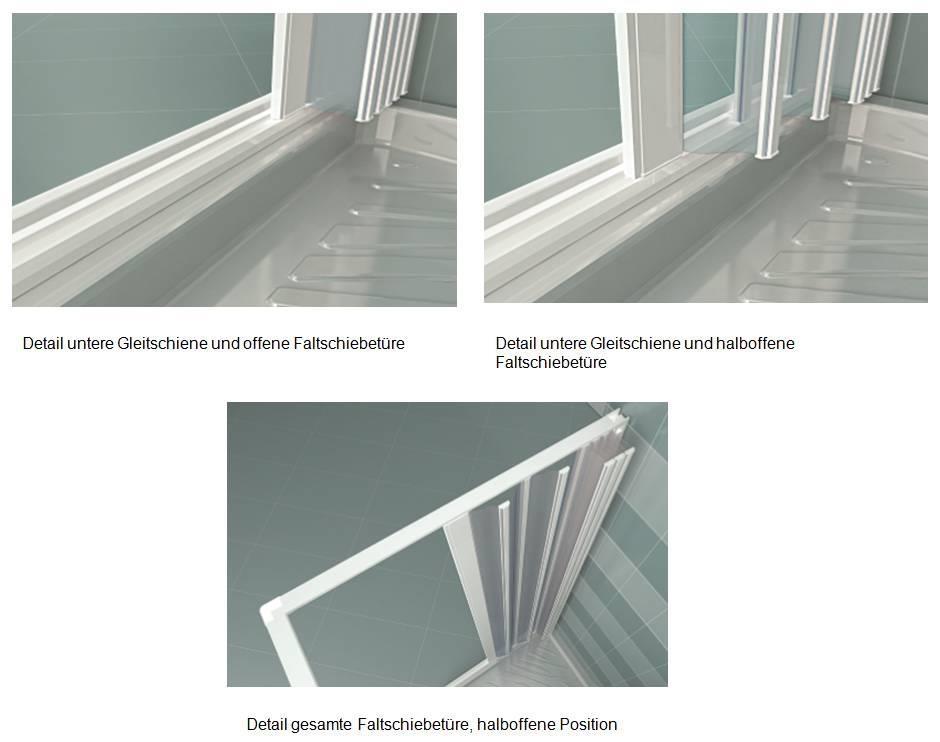 duschkabine in pvc 3 seiten faltt ren zentral zu ffnen duschfaltwand ebay. Black Bedroom Furniture Sets. Home Design Ideas