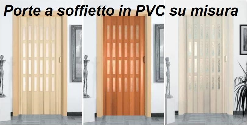 Porta a soffietto in pvc kit completo con vetro a scelta e for Porte a libro economiche