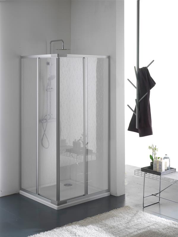 Cabina box doccia acrilico 2 lati apertura scorrevole for Tapparelle per cabina
