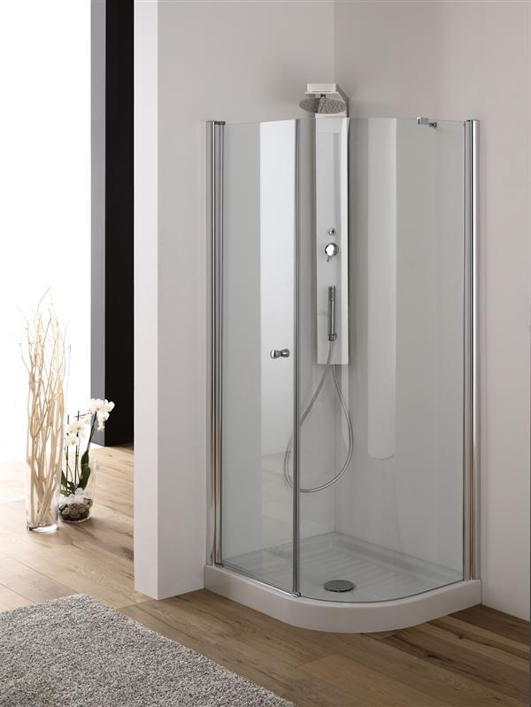 Box doccia SEMICIRCOLARE Cristallo 6 mm rettangolare