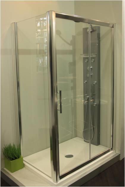 Box doccia cristallo 6 mm sostituzione vasca - Sostituzione vasca in doccia ...