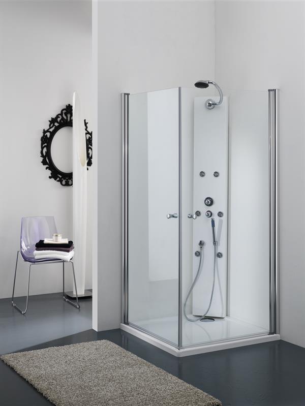 Box Doccia In Cristallo Satinato : Box doccia cristallo mm profilo bianco o satinato